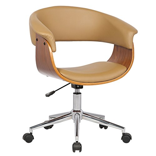 Porthos Home SKC017A NAT Atrium, Comfortable Executive Height Adjustable, Durable, as a Home Office Chair, One Size, Natural