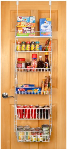 PRO-MART DAZZ Deluxe Over The Door Adjustable Pantry Organizer Rack, 6 Shelves, Large