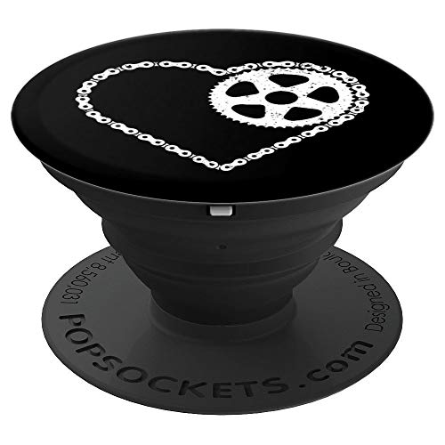 Bike Chain Love Sprocket Cyclist Cyclocross - PopSockets Grip and Stand for Phones and Tablets