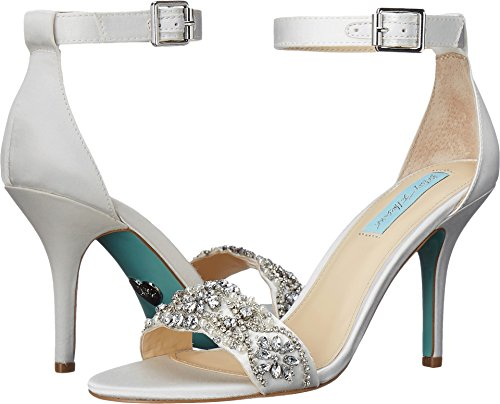 Blue by Betsey Johnson Women's Sb-gina Dress Sandal Ivory 5 M US ()