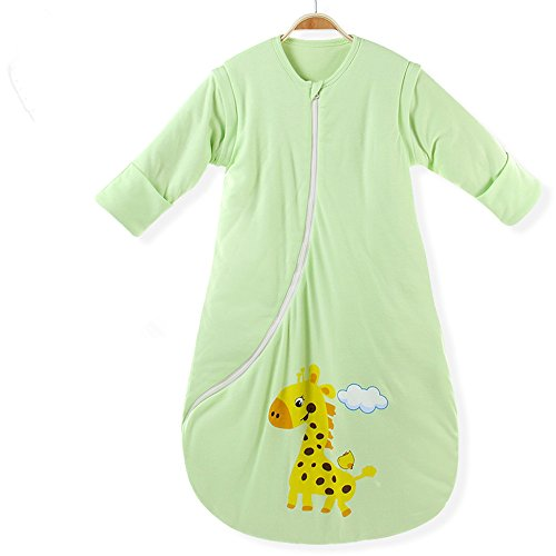 EsTong Unisex Baby Cotton Sleeper Gowns Wearable Blankets Sleep Bag Sack Green Thick M