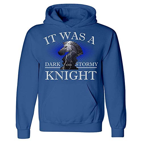 (Funny Chess - It was A Dark and Stormy Knight - Game Strategy Humor - Hoodie Royal Blue)