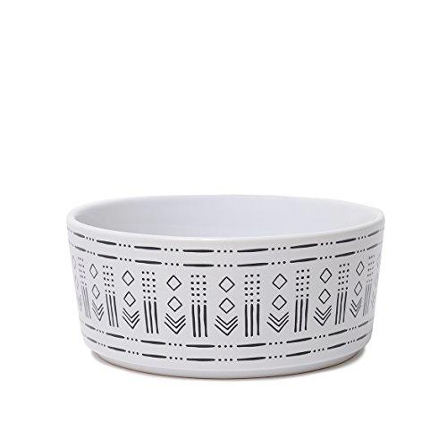 - Waggo Ceramic Mudcloth Dog Bowls (Diamond Print)