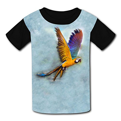 (Fashion Birds Parrot Kids Tee T-Shirt Short Sleeve Costume)