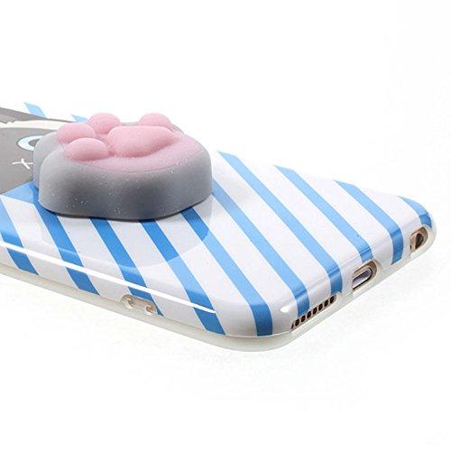 Pinzhi Squishy 3D weiche Silikon Katze TPU Telefon Fall Deckung für iPhone 6s 6
