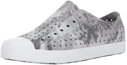 Native Jefferson Water Shoe, Dublin Grey/Shell White/Marble, 7 Men's (9 B Women's) M US