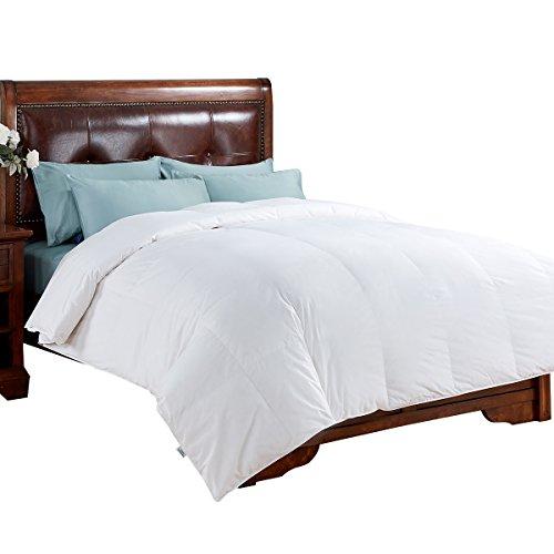 Price comparison product image All Season White Down Comforter 100% Cotton Cover, King, White