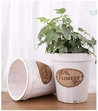 天然木のプランター/植木鉢、素朴な植木鉢,White-A-15.5×11×17.5cm