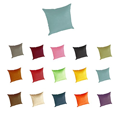 Heavy Duty Magnum Suede Euro Sham Pillow Case Protector 26 x 26 (Turquoise) - Euro Shams Covers