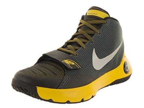 Nike Mens Kd Trey 5 Iii Scarpe Da Basket Premium Nero / Argento Metallizzato / Giro Giallo