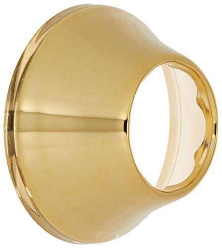 Jones Stephens E0815PB 1-1/2-Inch Tubular Escutcheon Polished Brass Bell Pattern by Jones Stephens Corporation