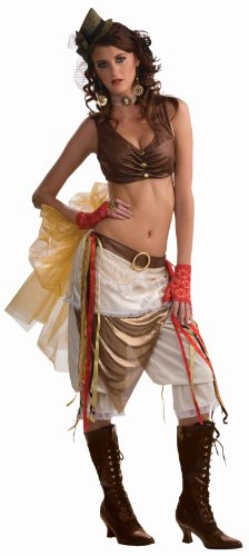 Showgirl Costumes Online (Forum Steampunk Showgirl Complete Costume, Brown, Standard)