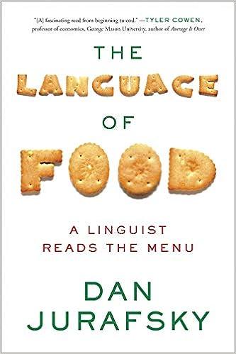 the language of food a linguist reads the menu dan jurafsky