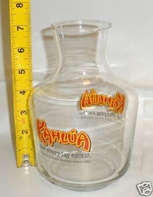 Kahlua Decanter Liquor Bar Glass Pitcher