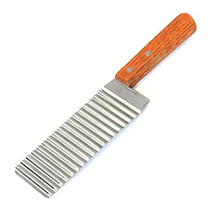 HAPPYNUTS SLICERS 11-Inch Stainless Steel Slicer Potato Chip Vegetable Carrot Crinkle Cut Knife Wavy Cutter