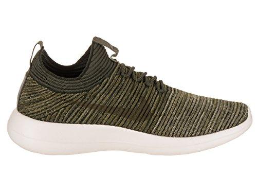 Nike Mens Roshe Due Flyknit V2 Scarpa Da Corsa Sequoia / Cargo Kaki / Antifurto