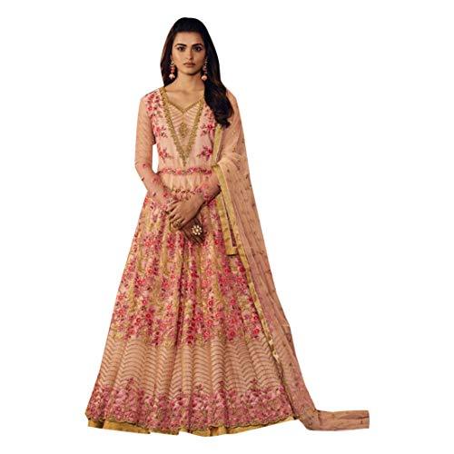 ection Heavy Floral Anarkali Salwar Kameez suit Long Dress Party Wear 7315 ()