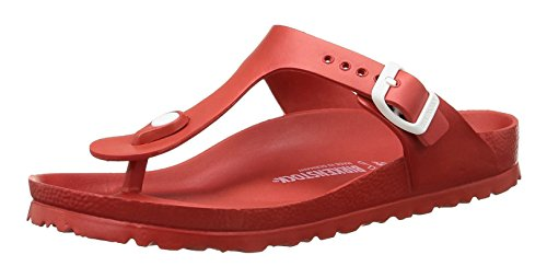 - Birkenstock Essentials Unisex Gizeh EVA Sandals Red 39 N EU (US Women's 8-8.5)
