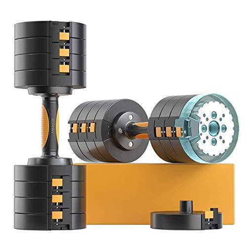 RUNWE 2021 Latest Adjustable Dumbbells Sets,49 lb 65 lbs Dumbbells Free Weight Sets, Workout Weights Dumbbells Set for…