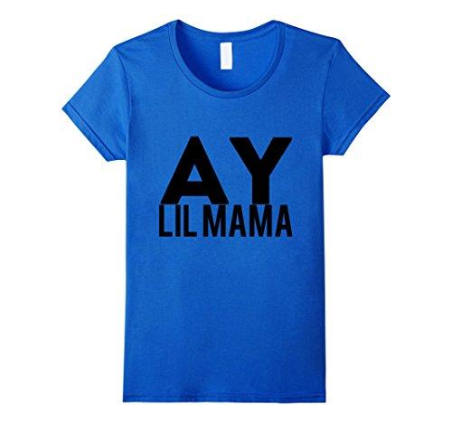 Womens Ay Lil Mama T-Shirt XL Royal Blue