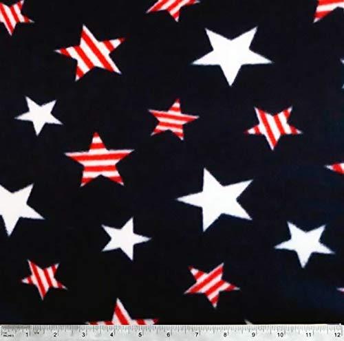 Printed Fleece Fabric - 2 Yards (Patriotic Stars)