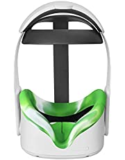 Esimen VR Silicone Mask Pad & Face Cover for Oculus Quest 2 Face Cushion Sweatproof (Greenmixed)