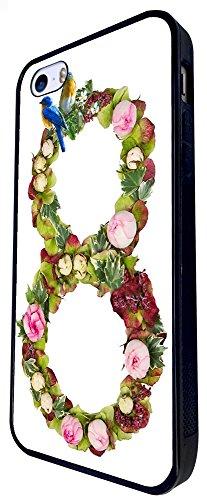 652 - Love Infinity Floral Shabby Chic Birds Design iphone SE - 2016 Coque Fashion Trend Case Coque Protection Cover plastique et métal - Noir