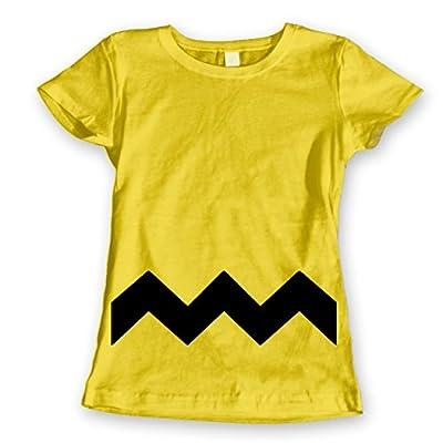 Charlie Brown Stripe Halloween Costume Cartoon Outfit Adult Womens Shirt
