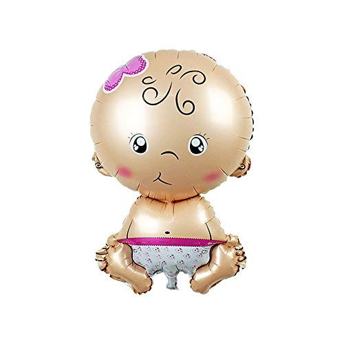 TRIXES 1PC Cute Baby Girl Foil Balloon for Baby Showers or It's a Girl Announcement ()