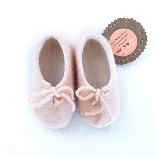 coolasbaby.com Merino Wool Booties (3-6, Soft - Felted Booties Baby
