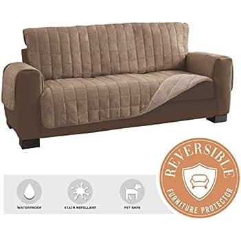 Amazon Com Serta Reversible Sherpa Suede Sofa Furniture