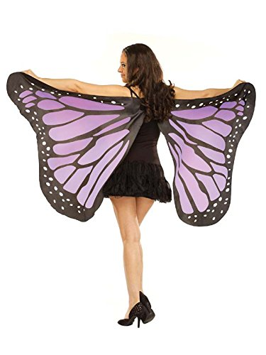 [Soft Butterfly Wings Costume Accessory] (Blue Monarch Butterfly Costume)