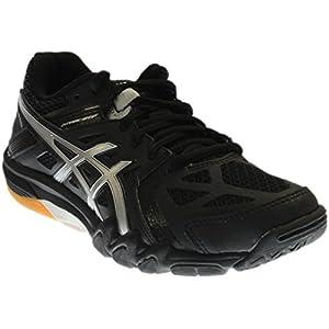 ASICS Women's Gel Court Control Volleyball Shoe, Black/Silver, 8.5 M US