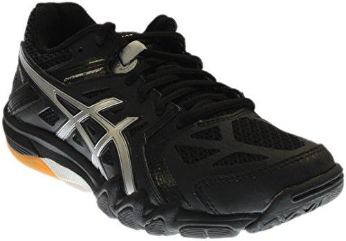 ASICS Women's Gel Court Control Volleyball Shoe, Black/Silver, 8 M US