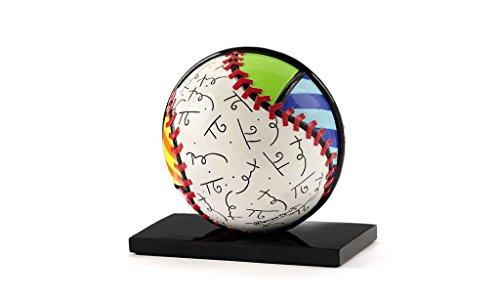 Florida Decorative Caddy - Gift Craft Romero Britto Polyresin Table Topper, Baseball Figurine