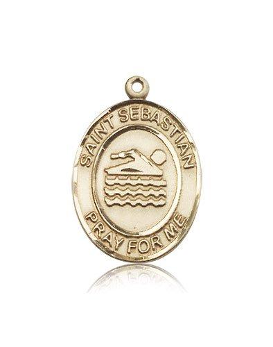 14kt Gold St. Sebastian / Swimming Medal by bliss
