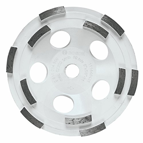 (Bosch DC510H 5-Inch Diameter Double Row Diamond Cup Wheel with 5/8-11 Hub)