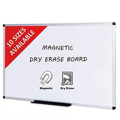- VIZ-PRO Magnetic Dry Erase Board, Silver Aluminium Frame