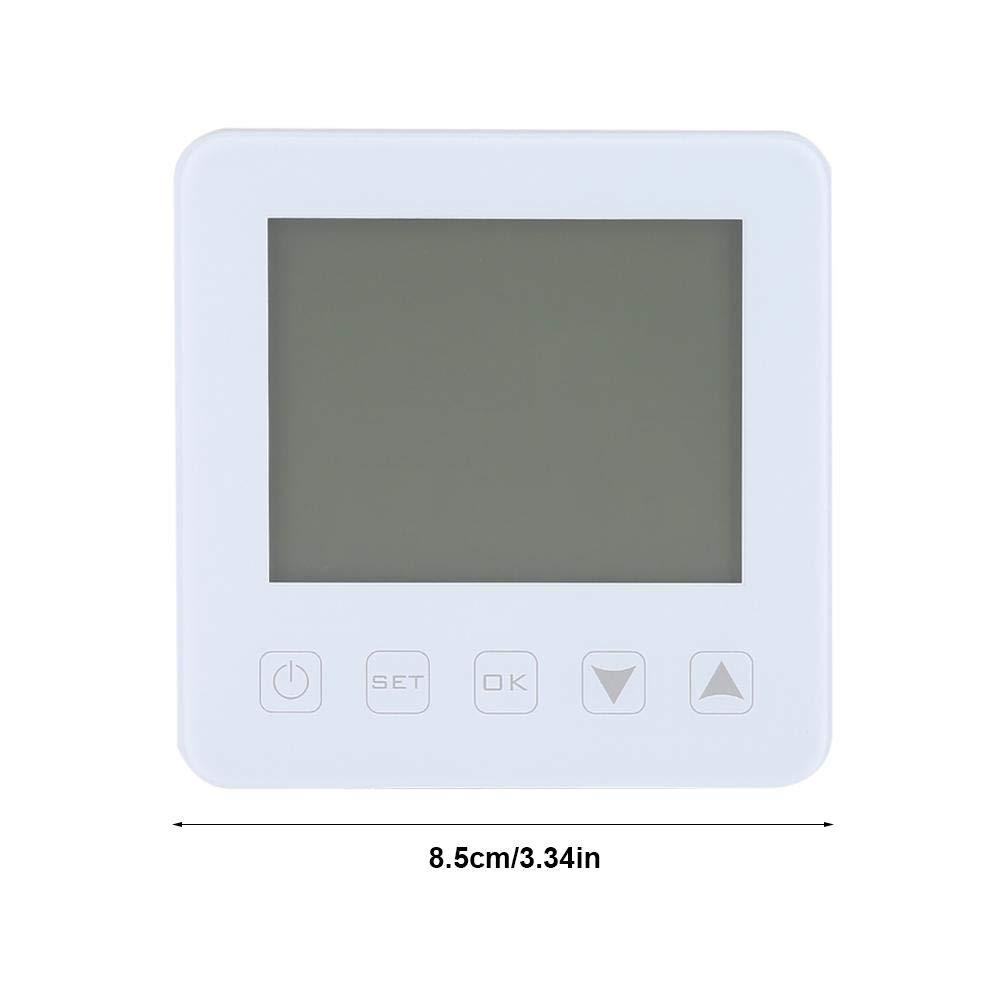 Raumthermostat FTVOGUE Thermostat programmierbar 16 A LCD Digitales Thermostat f/ür elektrische Heizung