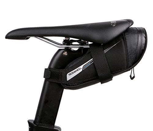 Roswheel Race Series 131432 Ultralight Bike Saddle Bag Bicycle Under Seat Pouch Cycling Wedge Pack for Road Bike, 0.4 Liter Capacity ()