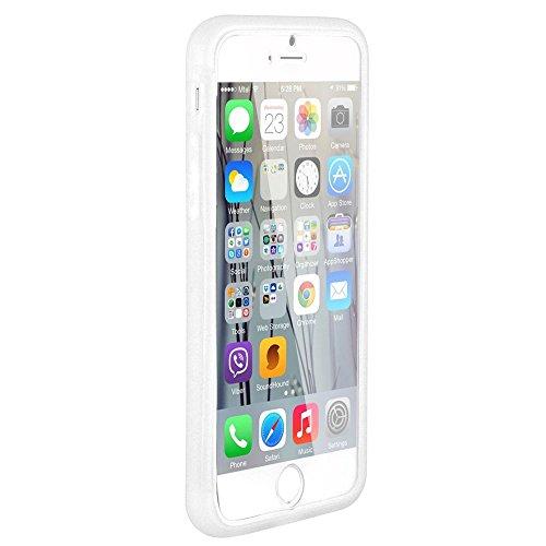 Flip-Case APPLE IPHONE 6 PLUS 5.5 POUCES [Le Jelly Glass Premium] [Weiss] von MUZZANO + 3 Display-Schutzfolien UltraClear + STIFT und MICROFASERTUCH MUZZANO® GRATIS - Das ULTIMATIVE, ELEGANTE UND LANG
