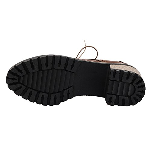 KemeKiss Mid Women Brown Heel Shoes Fashion 48vq4w6
