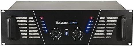 Ibiza dj pro amplificatore rack 1200W nero