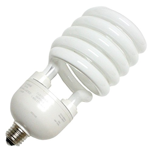 (TCP 2896827741K CFL Spring Lamp - 300 Watt Equivalent (only 68w used!) Cool White (4100K) MEDIUM (e26) Base Spiral Light Bulb - 277-volt)