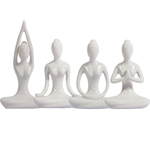 Decorative Porcelain Figurine Meditation complete