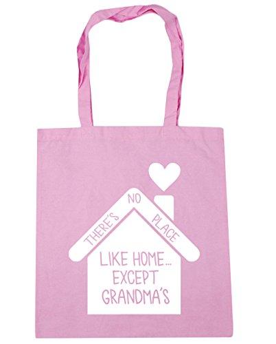 HippoWarehouse no hay lugar como en casa... de excepto la abuela bolsa de la compra bolsa de playa 42cm x38cm, 10litros Classic Pink