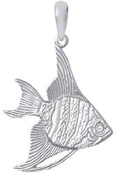 Sterling Silver Angelfish Pendant