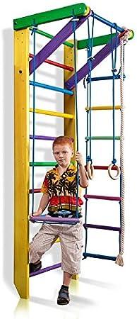 KindSport Escalera Sueca Barras de Pared Sport-2-240-Amarillo, Gimnasia de los niños en casa, Complejo Deportivo de Gimnasia: Amazon.es: Juguetes y juegos