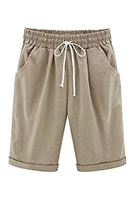 COCOLEGGINGS Womens Drawstring Waist Casual Beach Shorts Regular and Plus Sizes