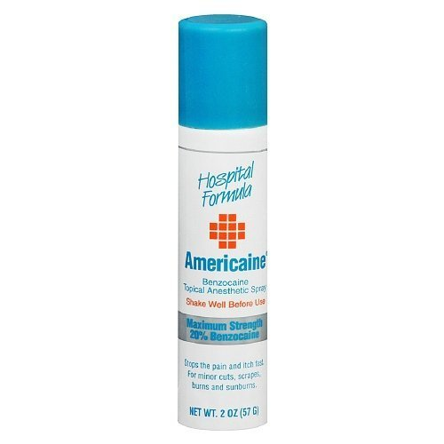 Americaine Benzocaine Topical Anesthetic Spray 2 oz (pack of (Americaine Benzocaine Topical Anesthetic)